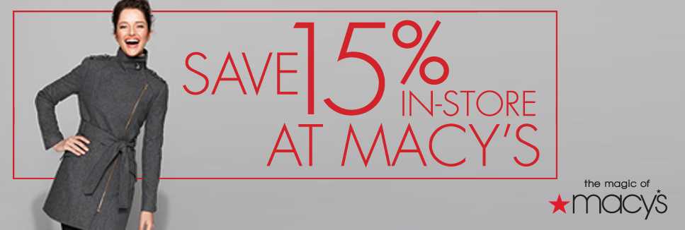 Save 15% at Macy's with your AFCA membership