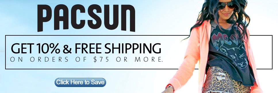 Save 10% on PACSUN Clothing