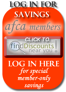 AFCA Members get exclusive savings coupons and discounts on items big and small