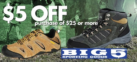 You'll feel sporty when you save money at big 5